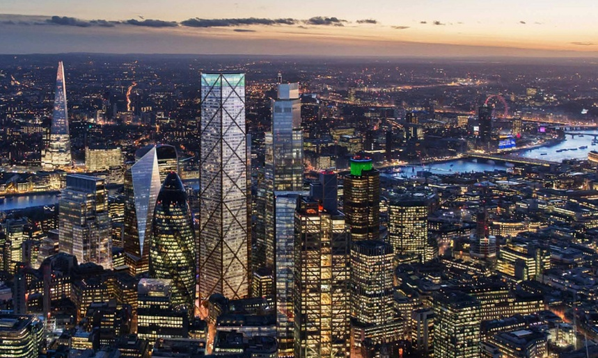 undershaft tower at night