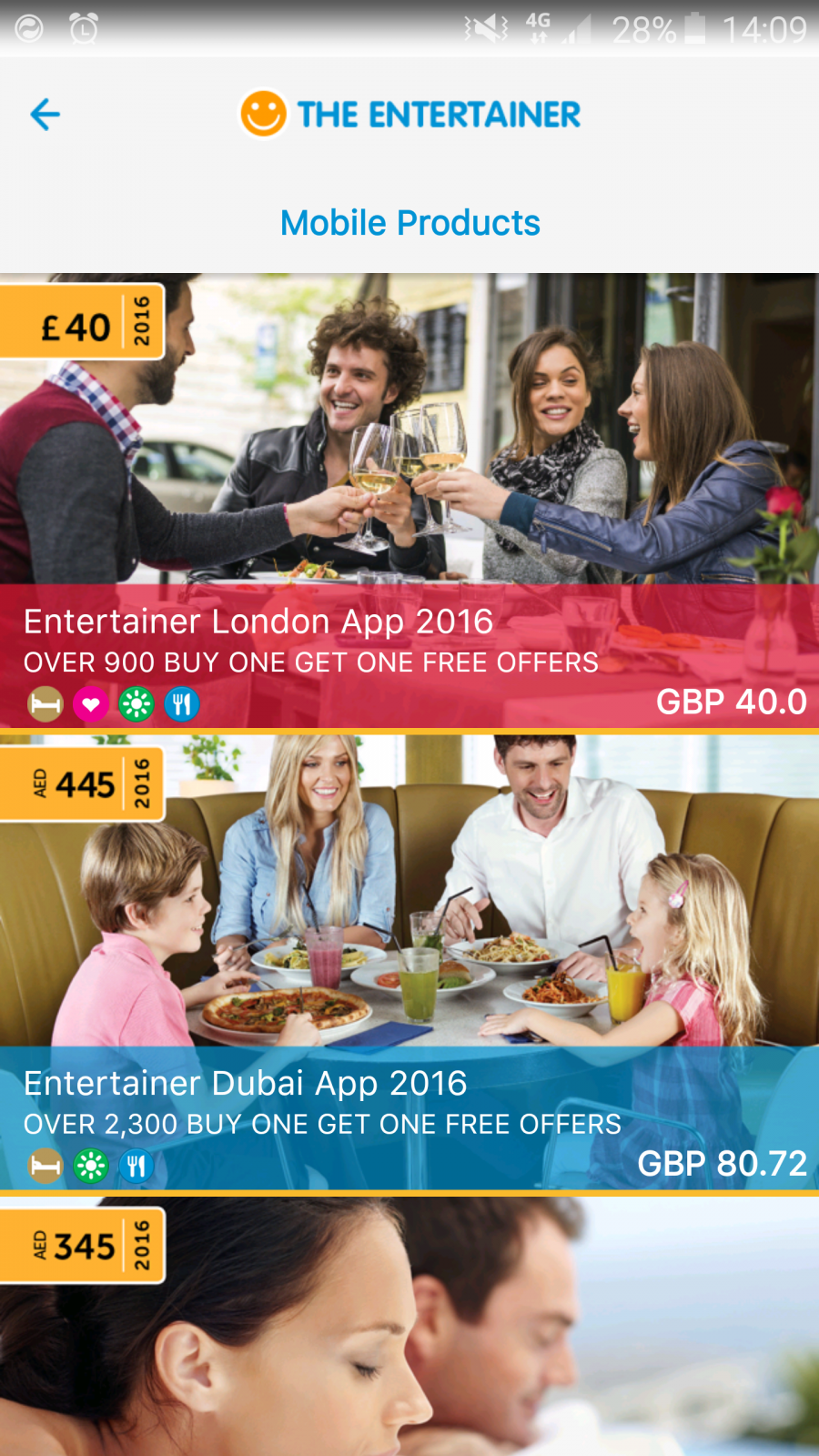 entertainer app London