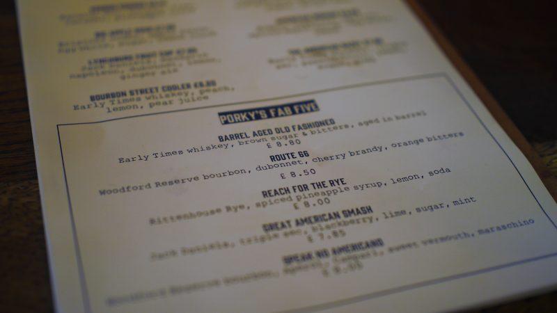 porky's menu