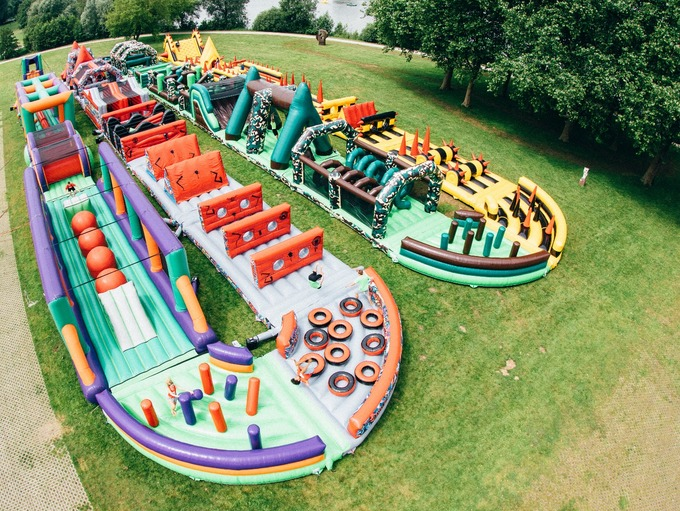 largest bouncy castle in the world coming to london