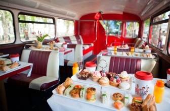 London Afternoon Tea Bus Tour – Afternoon Tea on a Vintage London Bus!