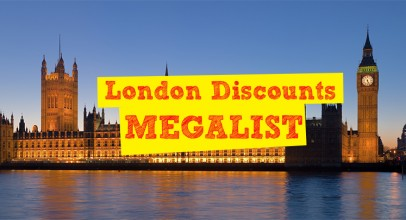 The big list of London Discounts