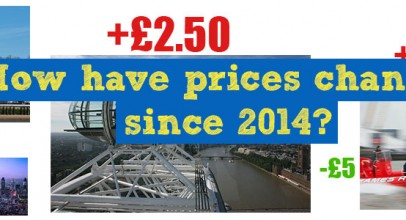 Have prices gone up or down at the most popular London attractions? Find out here.