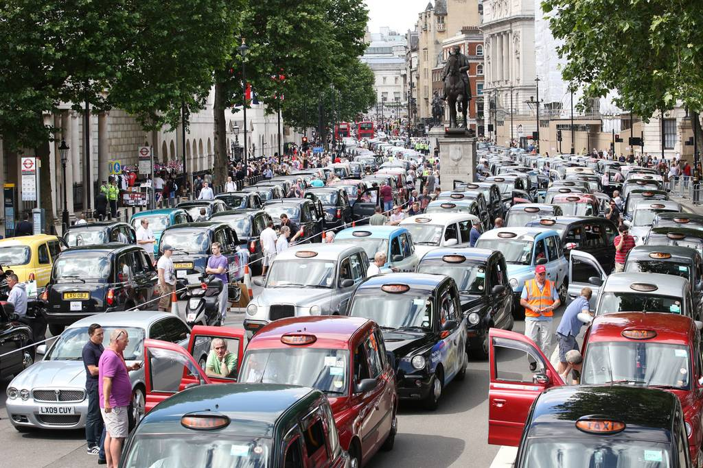 Traffic chaos spreads around central London.