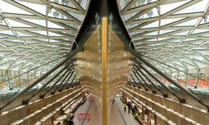 The interior of the new Cutty Sark museum